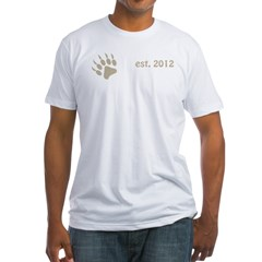 papa bear claw 2012_dark Fitted T-Shirt