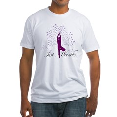 JustBreathe.jpg Fitted T-Shirt