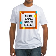 Librarian Seuss Lorax Fitted T-Shirt