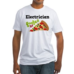 Electrician Funny Pizza Fitted T-Shirt