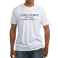 Big Brother Chilltown Population:2 Fitted T-Shirt