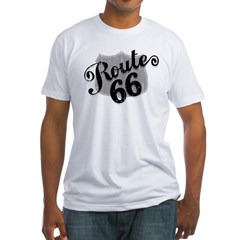 Route 66 Weatherboard Fitted T-Shirt