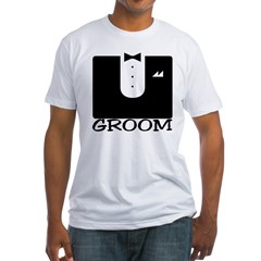 "Tuxedo ""GROOM"" Fitted T-Shirt"