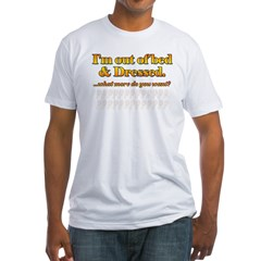 I'm out of bed Ash Grey Fitted T-Shirt
