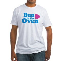 Bun in the Oven Ash Grey Fitted T-Shirt