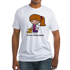 Future Veterinarian Girl Fitted T-Shirt