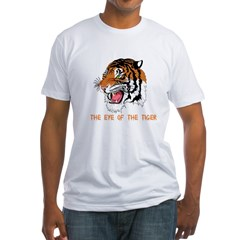 Eye of the tiger Fitted T-Shirt