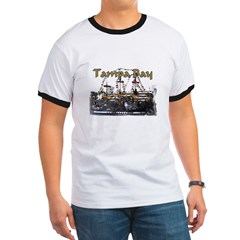 Tampa Palms Black Ash Grey Ringer T