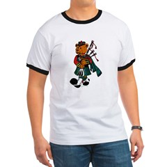 Jimmie the Scottish Piper Bear Ringer T