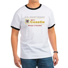 Once a Coastie - Always a Coastie Ringer T