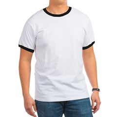 TD-Lightning Bolt White Ringer T
