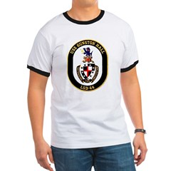 USS Gunston Hall LSD 44 Ash Grey Ringer T