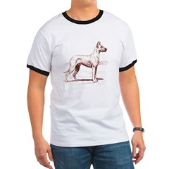 Great Dane Ash Grey Ringer T