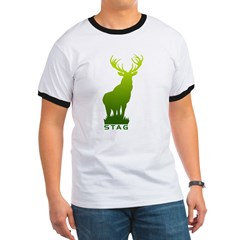 DEER STAG GRAPHIC Ringer T