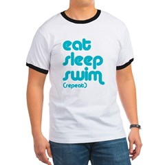 Eat, Sleep, Swim Ringer T