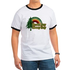 Earth Day Every Day Retro Ringer T