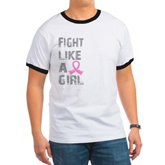 Fight Like A Girl Breast Cancer D 21.8 Ringer T