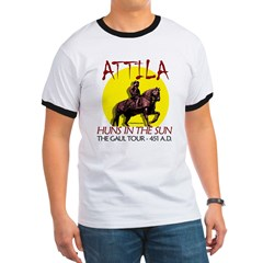 Attila 'Huns in the Sun' tour Ash Grey Ringer T