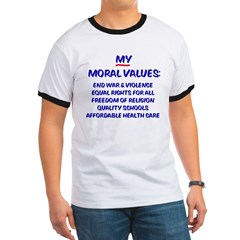 My Moral Values Ash Grey Ringer T