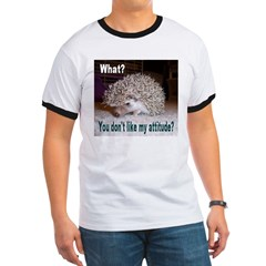 My Attitude Hedgehog Ash Grey Ringer T