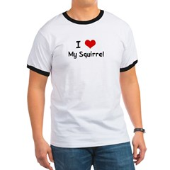 I LOVE MY SQUIRREL Ash Grey Ringer T