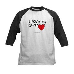 I Love My Aunt Infant Creeper Kids Baseball Jersey