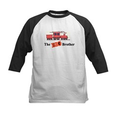 Big Brother - Trains Kids Baseball Jersey