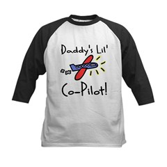 Daddy's lil' Co-Pilot Infant Creeper Kids Baseball Jersey