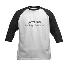 Baby's First Hockey Season Infant Creeper Kids Baseball Jersey