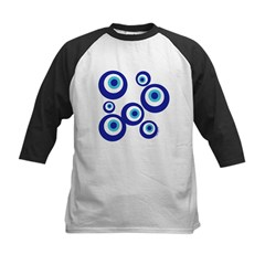 Mod Evil Eyes Kids Baseball Jersey