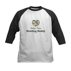 Daddy's Future Hunting Buddy Kids Baseball Jersey