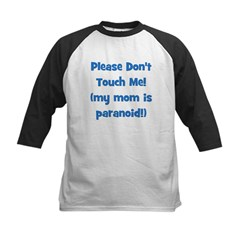 Please Don't Touch! Blue Kids Baseball Jersey