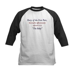 Party of the First Part Kids Baseball Jersey