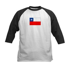 Chilean Flag Kids Baseball Jersey