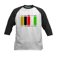 Wordless Book Colors Kids Baseball Jersey