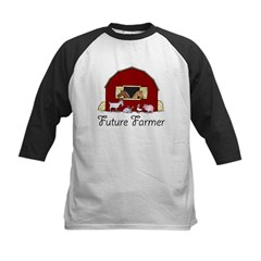 Future Farmer Barnyard Kids Baseball Jersey