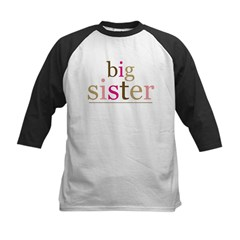 Big Sis (fun) Kids Baseball Jersey