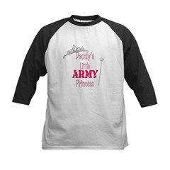 Army Princess Kids Baseball Jersey