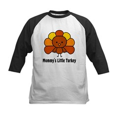 Mommy's Litttle Turkey Kids Baseball Jersey