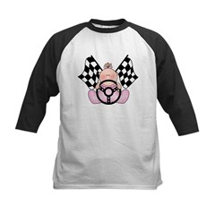 Lil Race Winner Baby Girl Kids Baseball Jersey