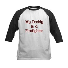 My Daddy is a firefighter Kids Baseball Jersey