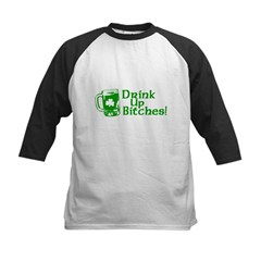 drink_up_bitches_white Kids Baseball Jersey