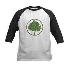 Vintage Tree Kids Baseball Jersey