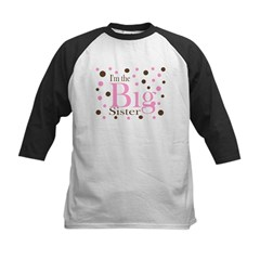 Im the Big Sister Dots Kids Baseball Jersey