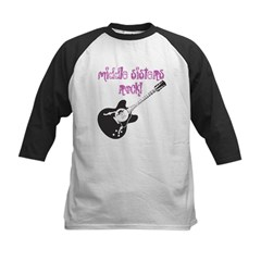 middle sisters rock Kids Baseball Jersey