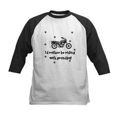 Rather be riding with Grandpa Baby Kids Baseball Jersey