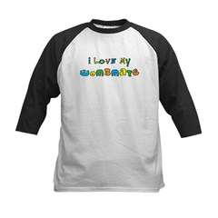 I Love My Wombmate Kids Baseball Jersey