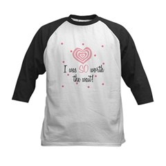I was worth the Wait Pink Baby Kids Baseball Jersey