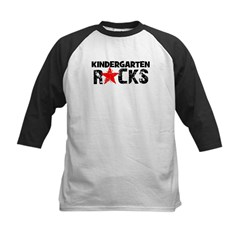 Kindergarten Rocks Kids Baseball Jersey