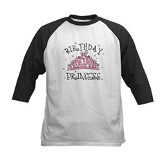 Tiara Birthday Princess 1st Kids Baseball Jersey